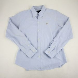 Ralph Lauren Casual Button Down Shirt Size 12 Blue